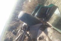 В Сакмарском районе возможно нетрезвый водитель на ВАЗе опрокинулся в кювет.
