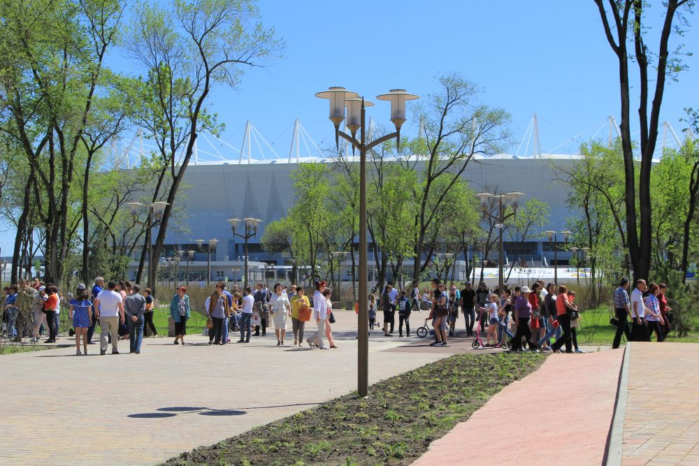 В дни проведения чемпионата мира по футболу в 2018 году бульвар будет играть ведущую роль при распределении людских потоков при входе и выходе со стадиона.