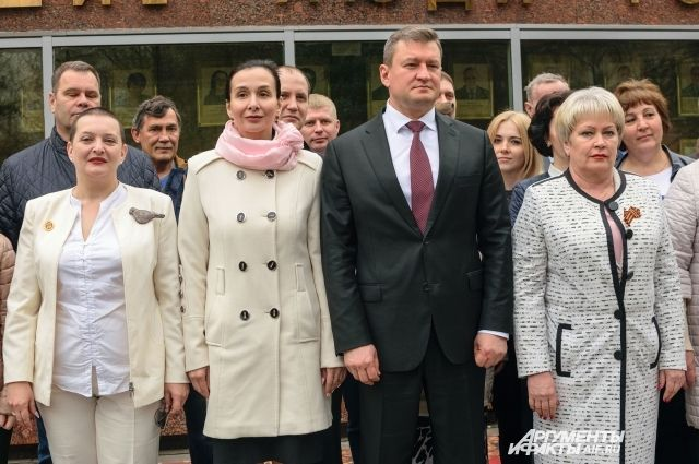 В Оренбурге открылась обновленная Доска Почета.