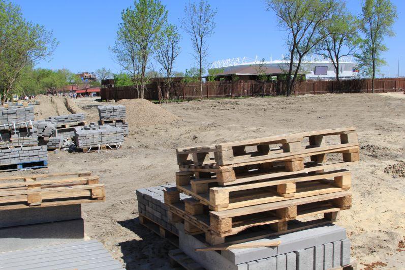 В парке еще идут работы, но основной проект уже выполнен.