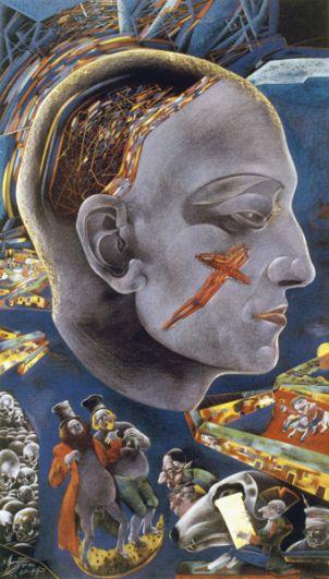Автопортрет, 1986-1989 годы.