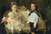 Картина Осипа Браза «Портрет детей генерал-лейтенанта П.П. Гессе» после реставрации вновь займёт своё место в музее.