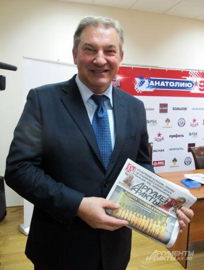 Хоккеист, тренер, государственный деятель Владислав Третьяк.