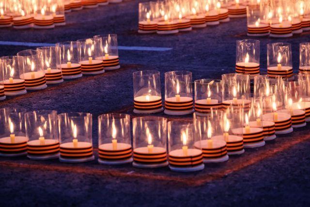 Свечи зажгут в память о погибших в годы войны.