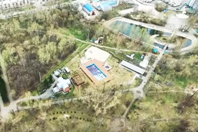 Барнаульцы сняли территорию парка с высоты птичьего полета