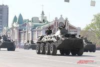 По центру города будет ездить военная техника.