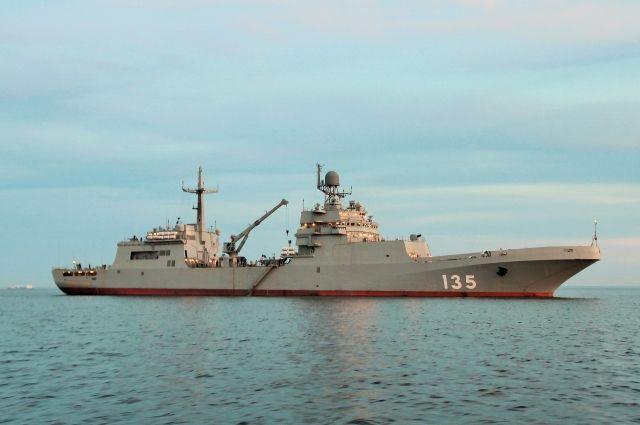 В Балтийском море завершились испытания БДК «Иван Грен» для ВМФ РФ.