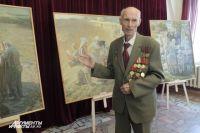 В Оренбурге открылась выставка картин известного художника-фронтовика.