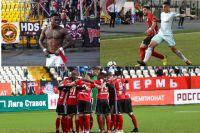 Трансферная стоимость всех игроков основного состава «Амкара» (на фото внизу) меньше, чем цена Квинси Промеса из «Спартака» (вверху слева) и Леандро Паредеса из «Зенита» (вверху справа).