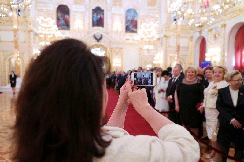 Приглашенные на церемонию инаугурации президента РФ Владимира Путина.