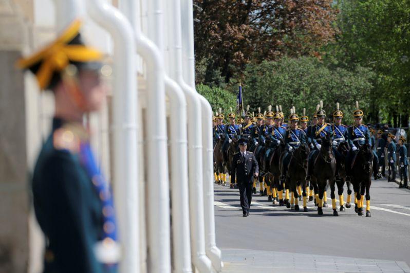 Президентский полк во время церемонии инаугурации.