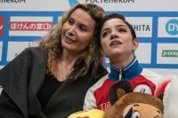 Этери Тутберидзе и Евгения Медведева.