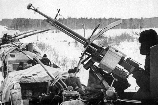 ДШК на броневом поезде, 1941 год.