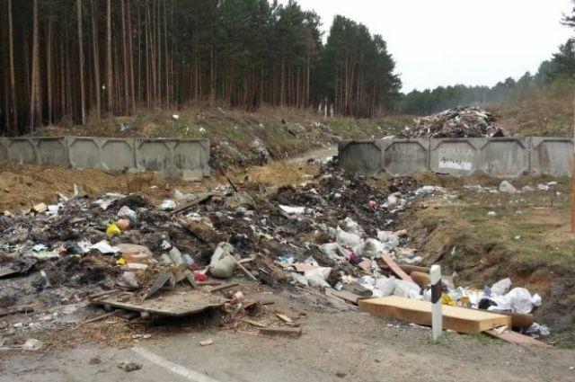 Старую свалку закрыли, но жители продолжают везти на неё отходы и вываливать мусор рядом с полигоном.