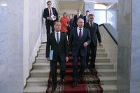 Перед началом пленарного заседания Государственной Думы РФ.