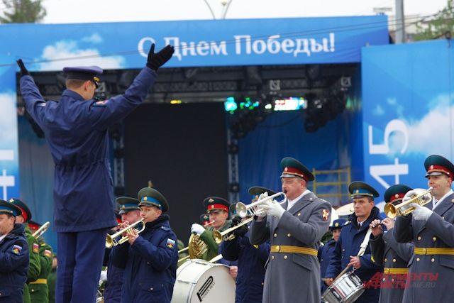 В Новосибирске прошел парад Победы.