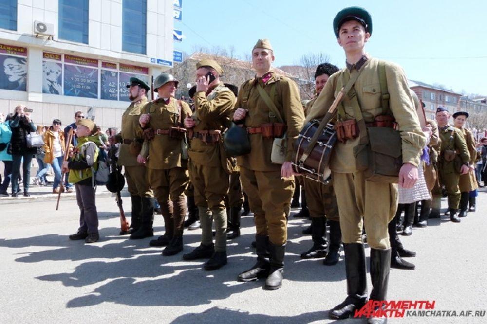 Колонна военно-патриотического клуба «Петропавловск».