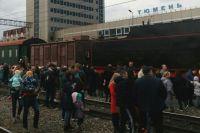 В Тюмень приехал «Поезд Победы» - в вагоне во время ВОВ оперировали раненых