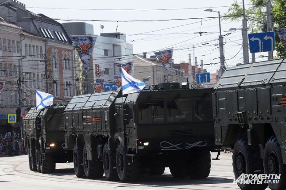 Парад Победы в Калининграде.