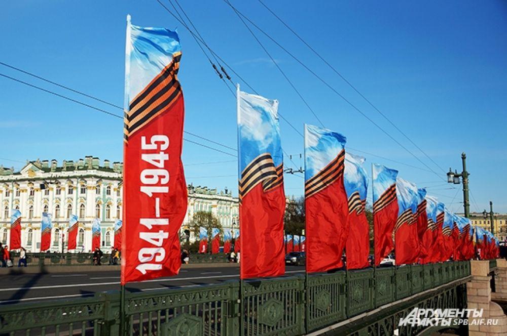 В Петербурге отпраздновали 73-ю годовщину Великой Победы.