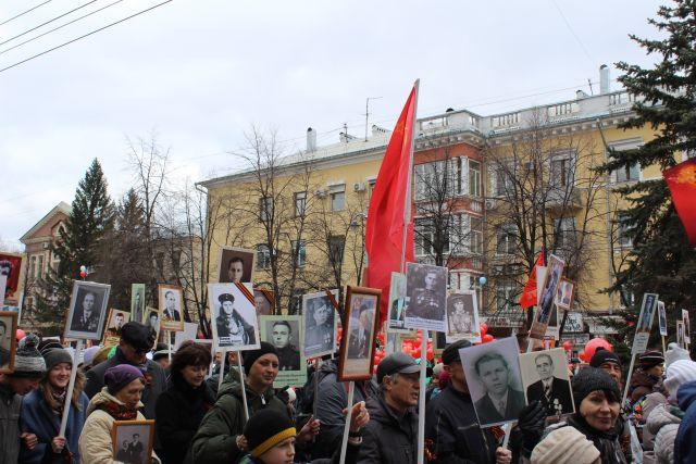 В акции «Бессмертный полк» приняли участие 21 000 кемеровчан.