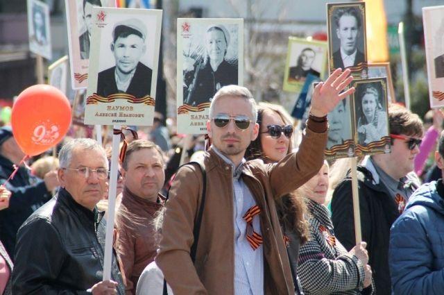 Десятки тысяч иркутян приняли участие в шествии.