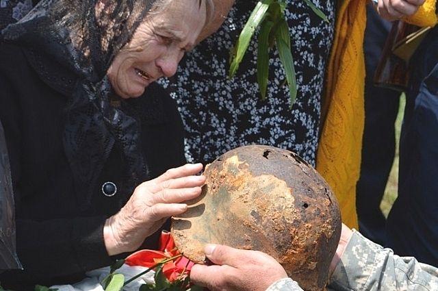 Захоронение красноармейца А.Г. Кокозея на Кубани.