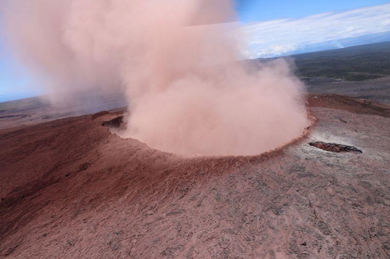 Кратер вулкана Килауэа.