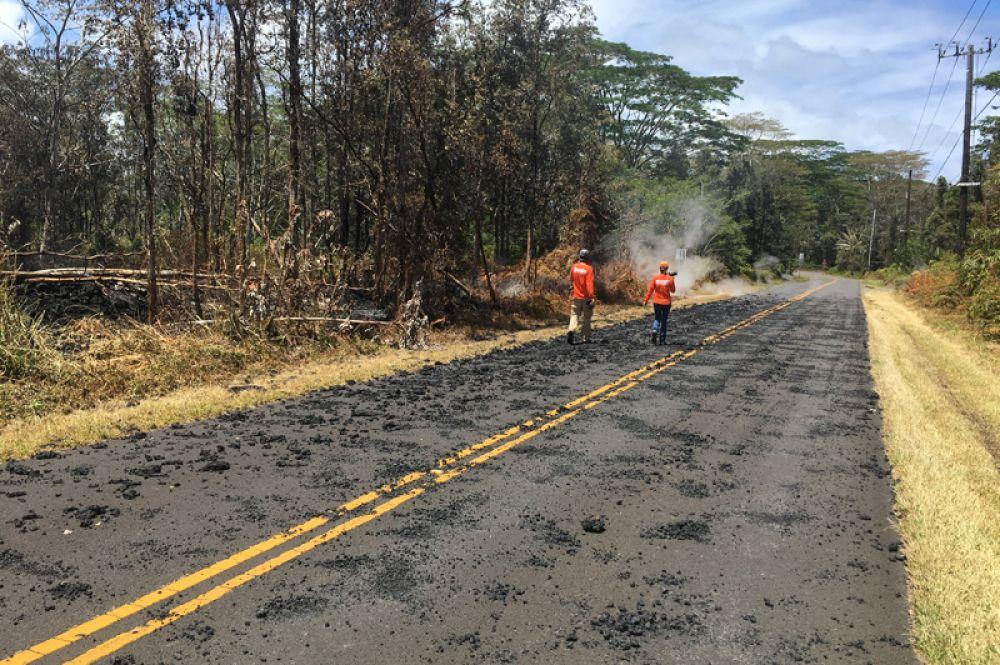 Последствия извержения вулкана Килауэа на Гавайях.