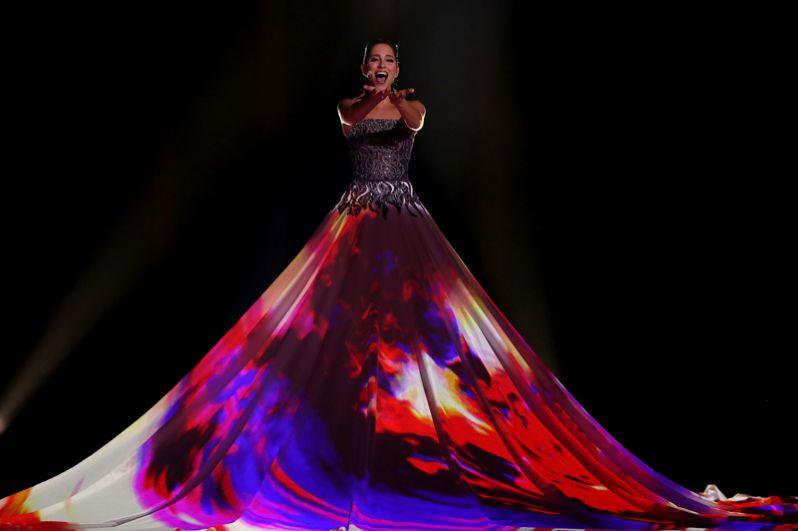 Элина Нечаева из Эстонии с песней «La Forza».