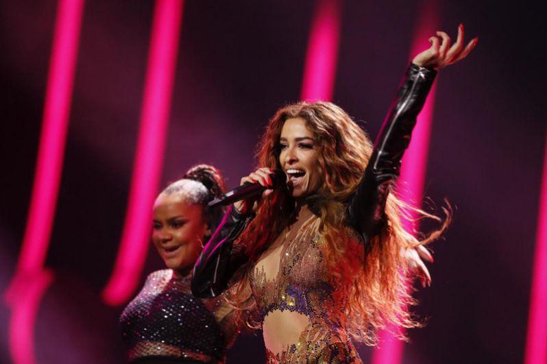 2 место. Кипр. Элени Фурейра с песней «Fuego» («Огонь»).