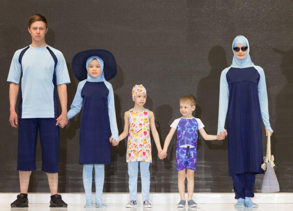 Пляжные варианты для мусульман. Мусульманские купальники (буркини) от сестер Зайнаб и Мадины Кебедовы из Дагестана.