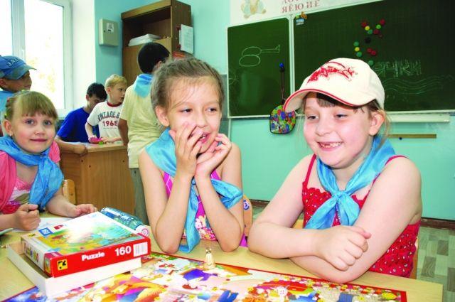 Детский лагерь на базе школы