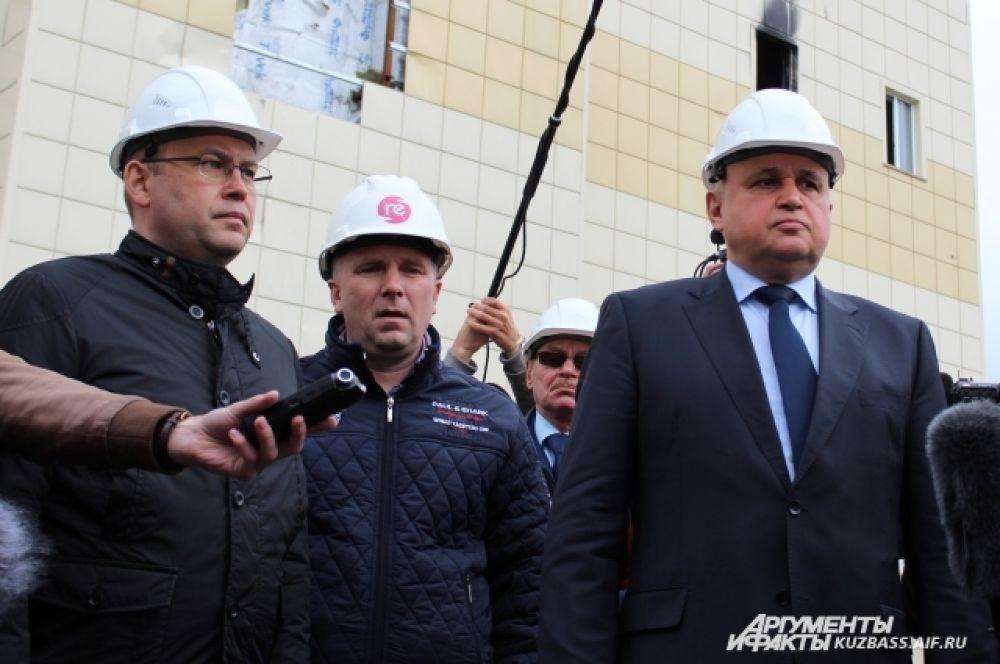 Старт работам по демонтажу здания дал врио губернатора Кемеровской области Сергей Цивилев.