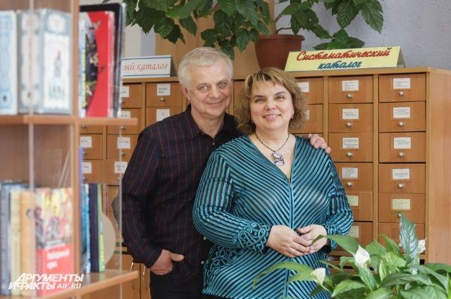 Анна Берсенева с супругом - детским писателем Владимиром Сотниковым.