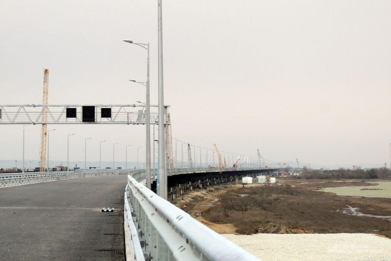 Участок моста на острове Тузла. 23 марта 2018 года.