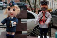 Игрушки, отражающие исторический аспект деятельности полиции в разные этапы развития страны, представлены на отдельном стенде.