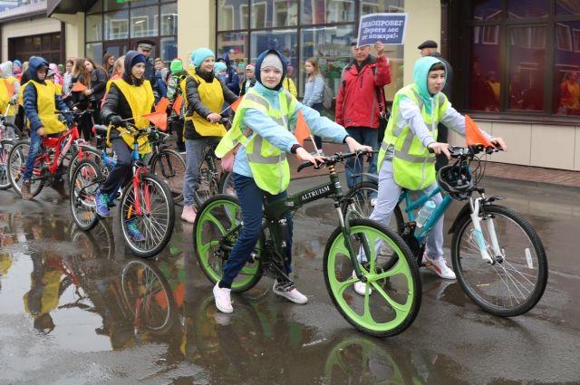 В Кемерове прошел экологический велопробег «Береги лес от пожаров».