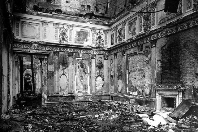 Разрушенный Екатерининский дворец, 1944 г.
