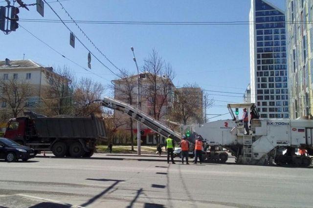 Напроспекте Октября вУфе начали ремонт участка протяженностью неменее  2 километров