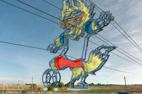 На Приморском полукольце устанавливают 38-метровую фигуру Волка Забиваки.
