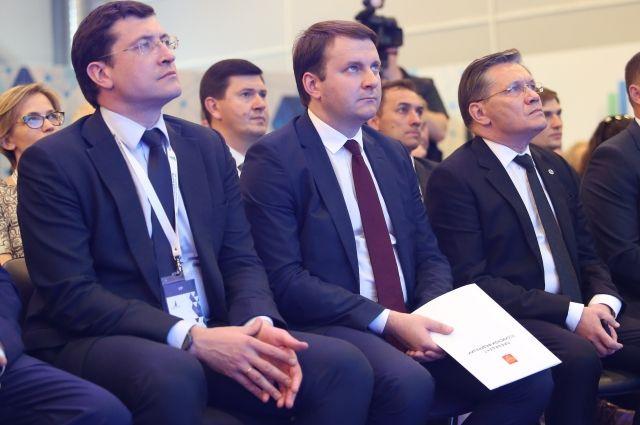 На фото: Глеб Никитин, Максим Орешкин и Алексей Лихачев