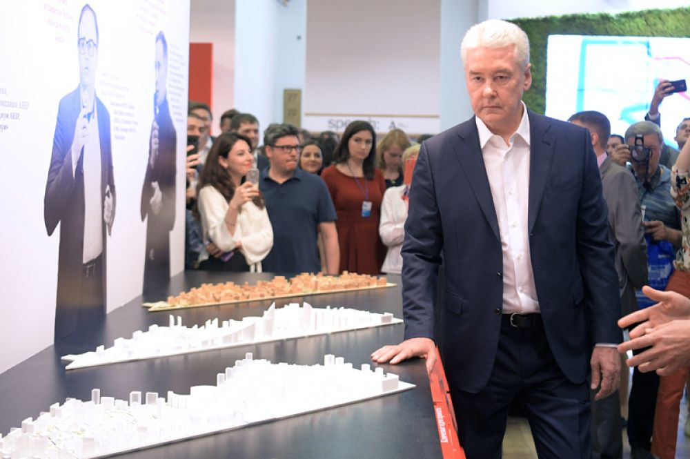Мэр Москвы Сергей Собянин на международной выставке архитектуры и дизайна «Арх Москва».
