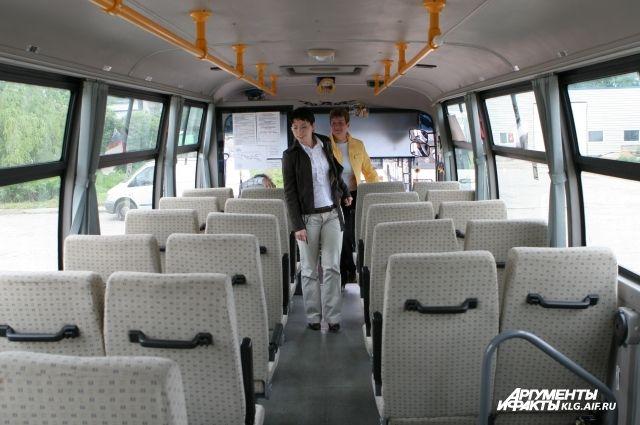 Отменен автобус № 101, курсирующий между Калининградом и Гурьевском.