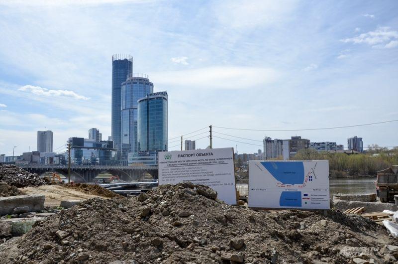 Строительная площадка Макаровского моста.