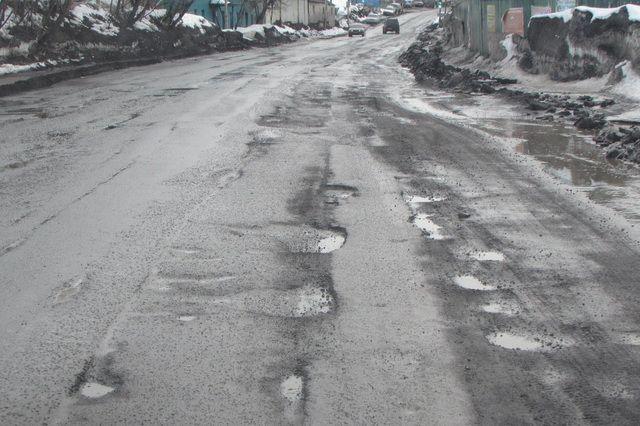 Дорога на улице Мишенной.