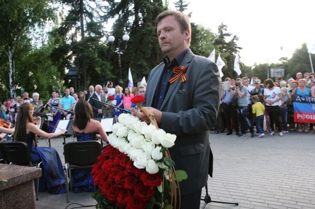Матеуш Пискорский в Донецке, 2015 г.