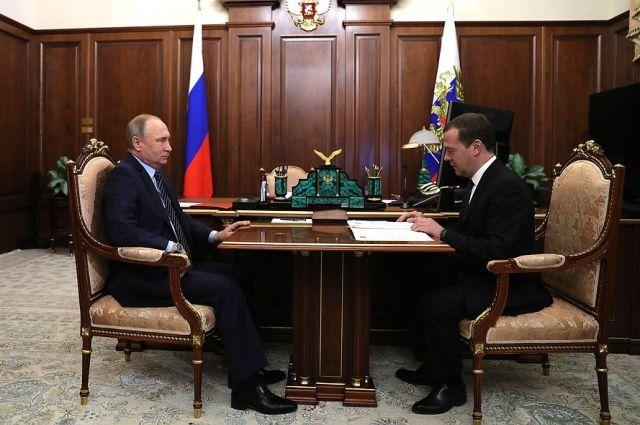 Медведев озвучил Путину кандидатуры всостав нового руководства
