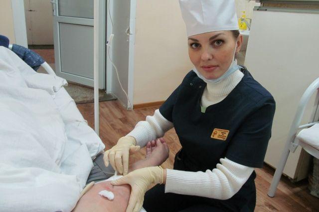 Медсестра Яна Щербак.