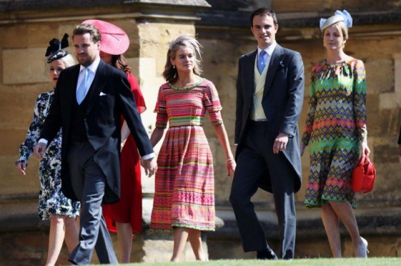 На свадьбе у принца Гарри и Меган Маркл были также и бывшие подружки принца Гарри. На фото - Крессида Бонас, с которой принц Гарри встречался два года. Также была и бывшая невеста принца - Чесси Дэйв.
